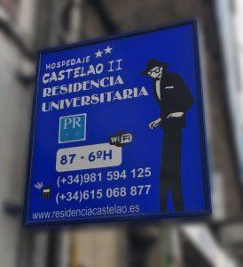 Alquiler de habitaciones para estudiantes en la residencia de estudiantes Castelao en Santiago de Compostela.